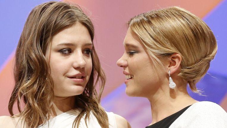 Adele Exarchopoulos (R) en Lea Seydoux (L) Beeld ANP