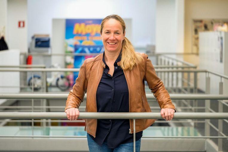 Choreografe IJvi Hagelstein in de gebouwen van Studio 100, waar sinds 1997 haar dansstudio is.