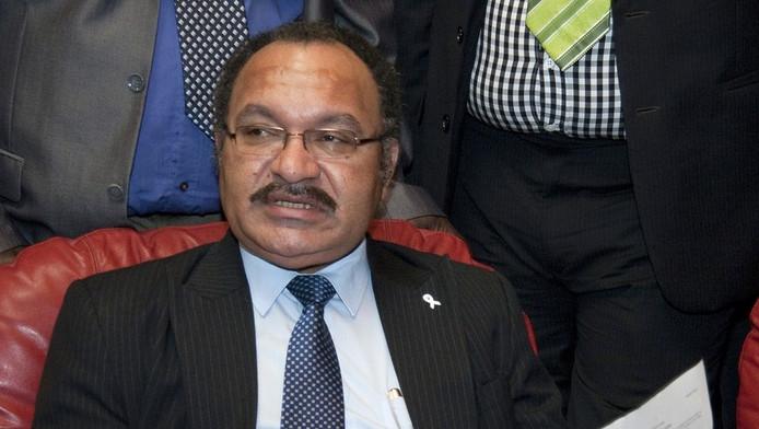 Peter O'Neill, de premier van Papoea-Nieuw-Guinea.