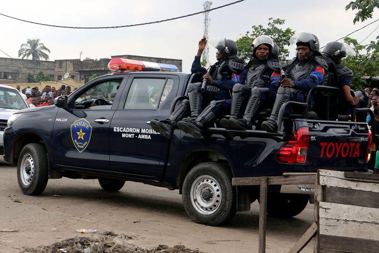 De Congolese politie.