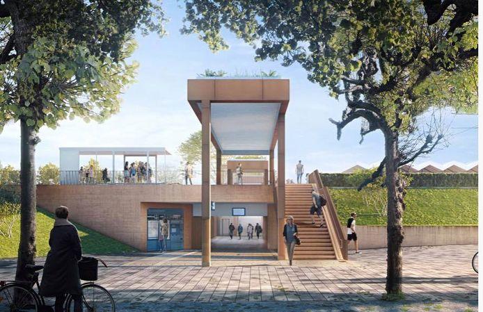 Een impressie van het vernieuwde station Gorinchem. De vraag is nu of het plan ook echt werkelijkheid wordt.