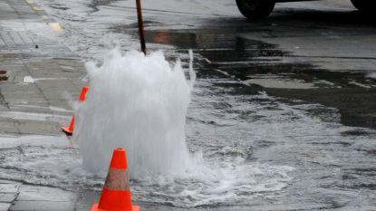Waterlek in Dorpsstraat veroorzaakt overlast in Neerijse
