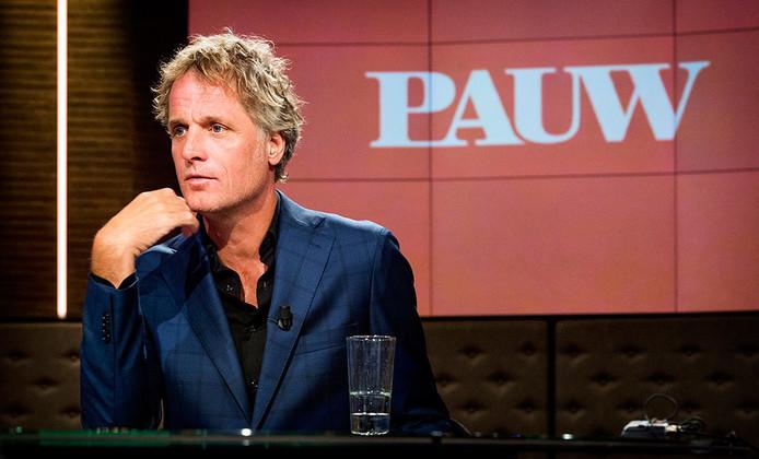 Presentator Jeroen Pauw tijdens de repetities van zijn nieuwe dagelijkse talkshow Pauw. De eerste aflevering van het VARA-programma is op maandag 1 september te zien.