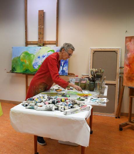 'Ik ben als het ware in gesprek met het schilderij'