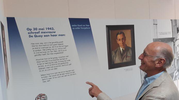 Maes de Quay (zoon van de vermaarde politicus én gegijzelde Jan de Quay) is verrast bij de expositie 'Gegijzeld maar niet verslagen' een hem onbekende brief van zijn moeder aan te treffen