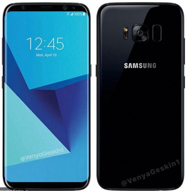 Zo zal de Galaxy S8 eruit zien.