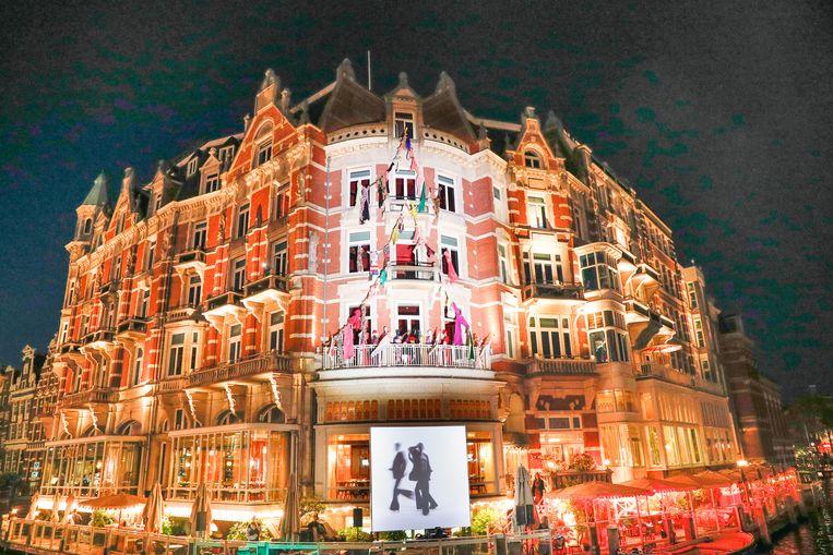 Presentatie van Ronald van der Kemp in Hotel de l'Europe. Beeld Peter Stigter