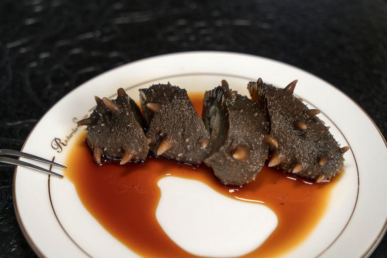 De zeekommer is een delicatesse in China. Beeld Ruben Lundgren