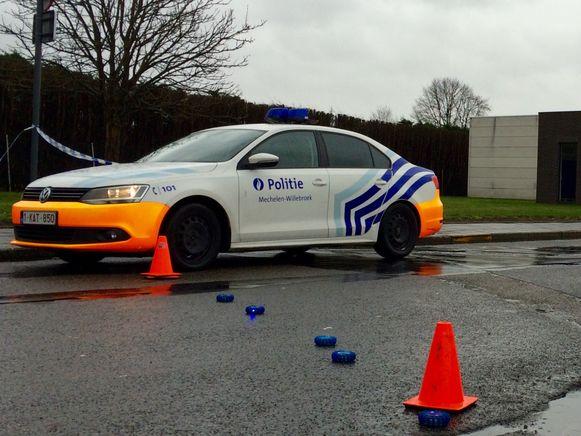 De lokale politie Mechelen-Willebroek kwam ter plaatse