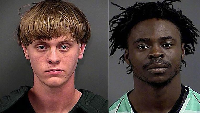 Dylann Roof (links) werd in de douche aangevallen door Stafford