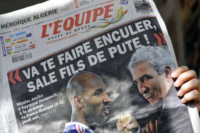 Anelka zou volgens de Franse media Domenech verweten hebben een hoerenzoon te zijn.