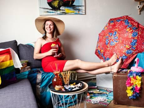 Op de digitale camping van Nynke (26) uit Amersfoort krijg je vanuit huis tóch een vakantiegevoel