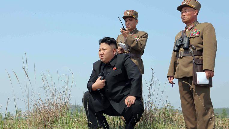 De Noord-Koreaanse leider Kim Jong-Un.