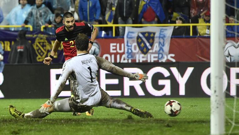 83': Yannick Carraso trapt de winnende 3-4 voorbij Begovic.