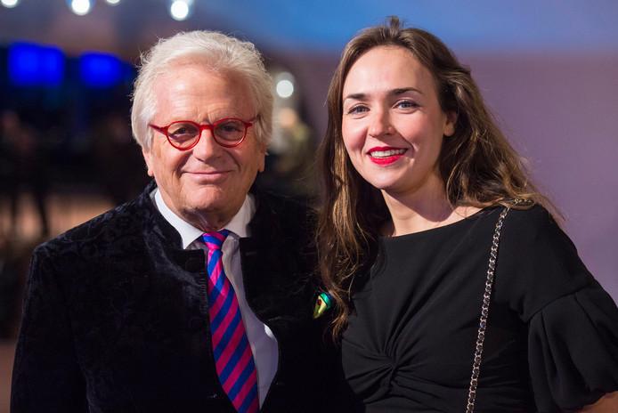 Justus Frantz en zijn vriendin Ksenia Dubrovskaya.