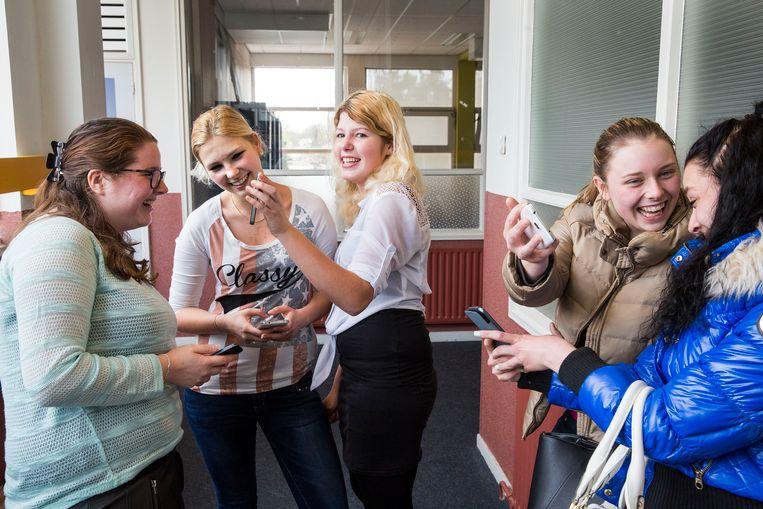 Mbo-studenten in Bergen op Zoom, 2015. Beeld null