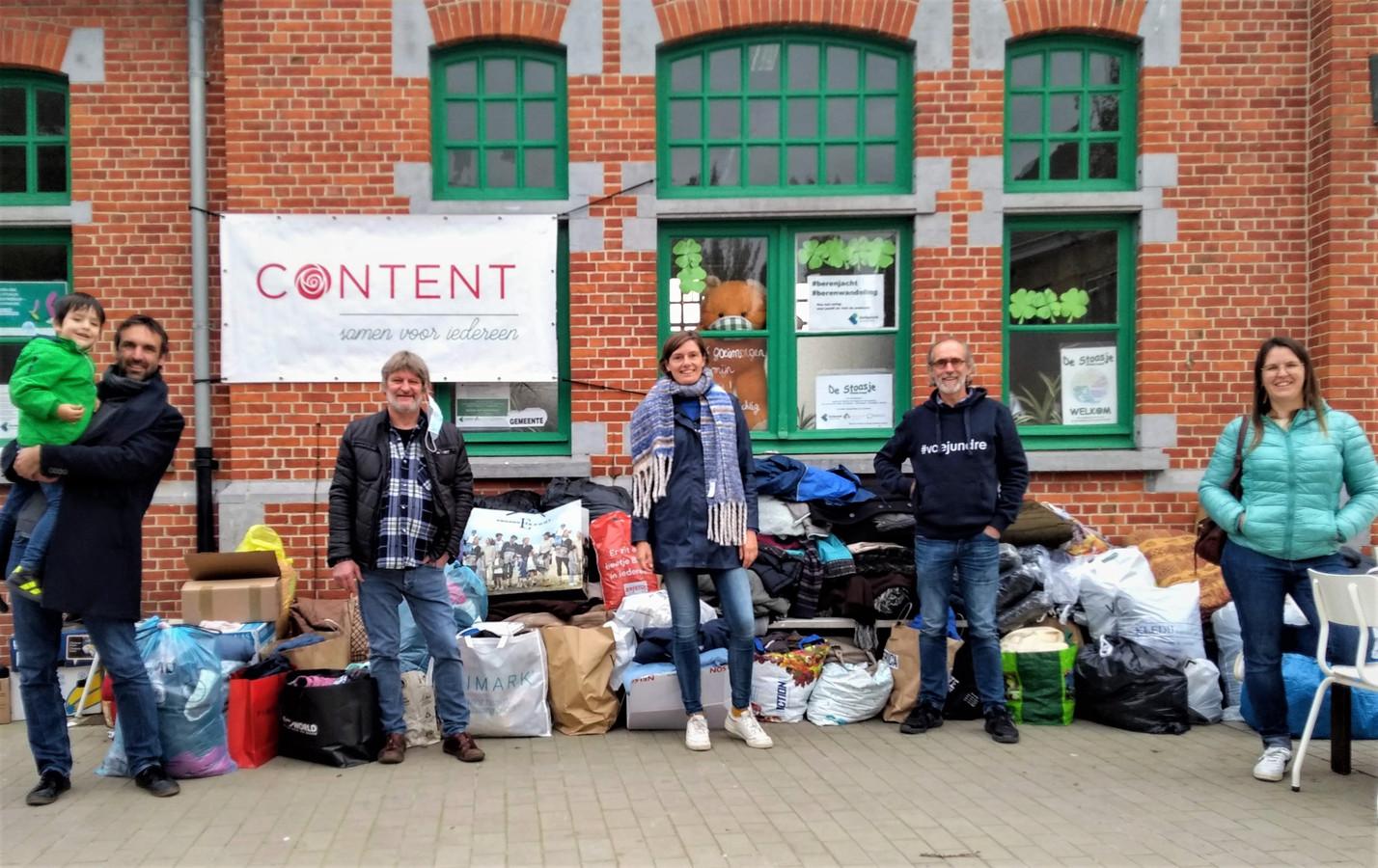 De ploeg van CONTENT zamelde in Kortemark winterjassen in.