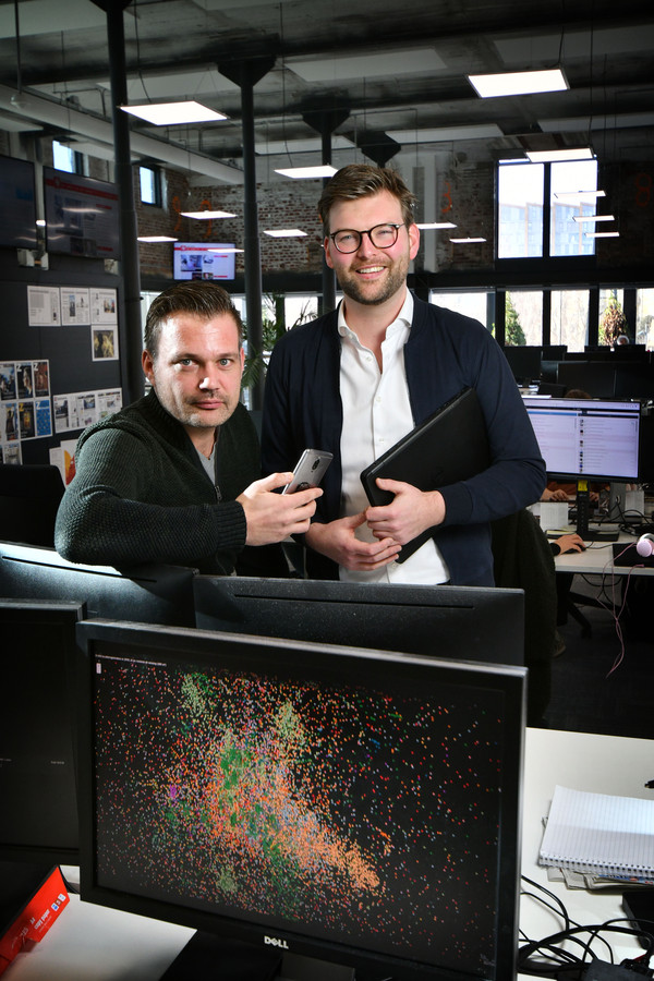 TT-2019-008446 - Enschede - Pim Lindeman (r.) en Martijn Bekhuis ivm Google project bijlage Z editie alle          Foto Carlo ter Ellen DTCT  CTE20190129