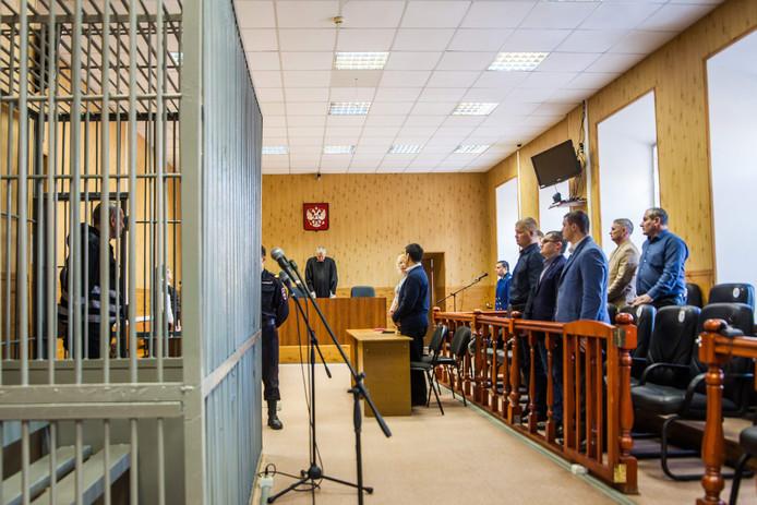 Mikhail Popkov tijdens zijn de behandeling van zijn zaak op maandag 10 december 2018