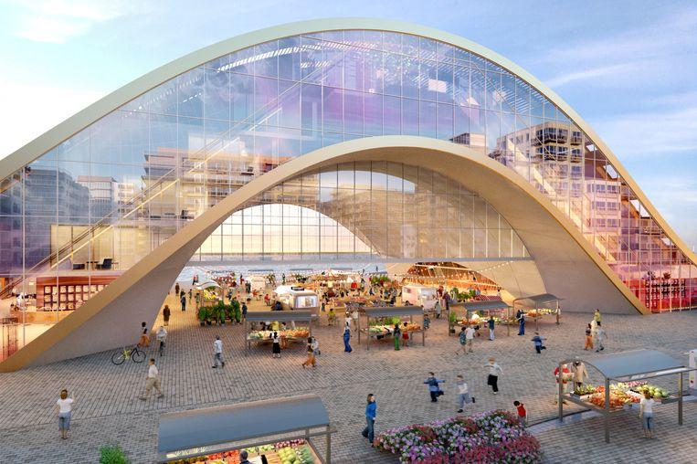 Het afgevoerd ontwerp van het casino van Middelkerke.