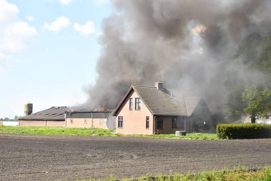 De brand in de schuur in Hazerswoude-Dorp