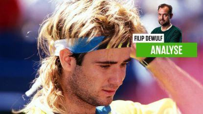 """Onze tennisexpert Filip Dewulf haalt herinneringen op aan jarige 'rockster' Andre Agassi: """"Plots kwam hij op de bank naast mijn vrouw zitten... """""""