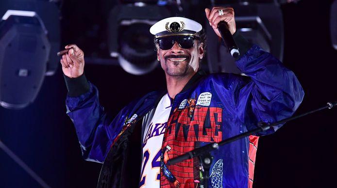 Snoop Dogg op het podium.