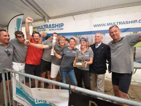 Schone Waardin wint sloeproeiwedstrijd Breskens-Terneuzen