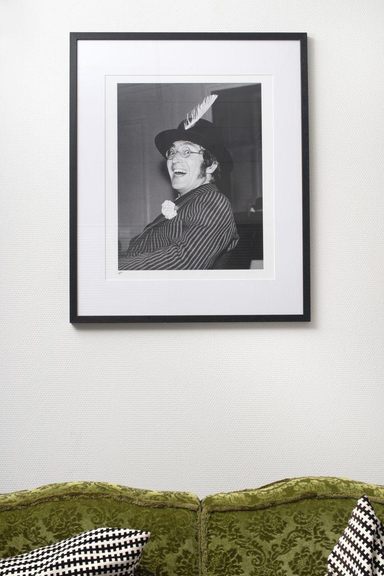 John Lennon op een foto van Fenno Werkman Beeld Eline van Strien
