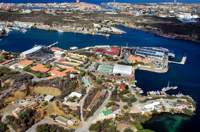 Luchtfoto van Marinebasis Parera.