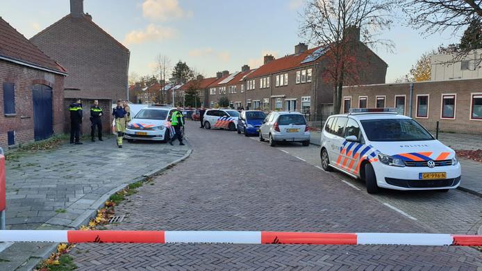 De plek van de moordpartij in Enschede