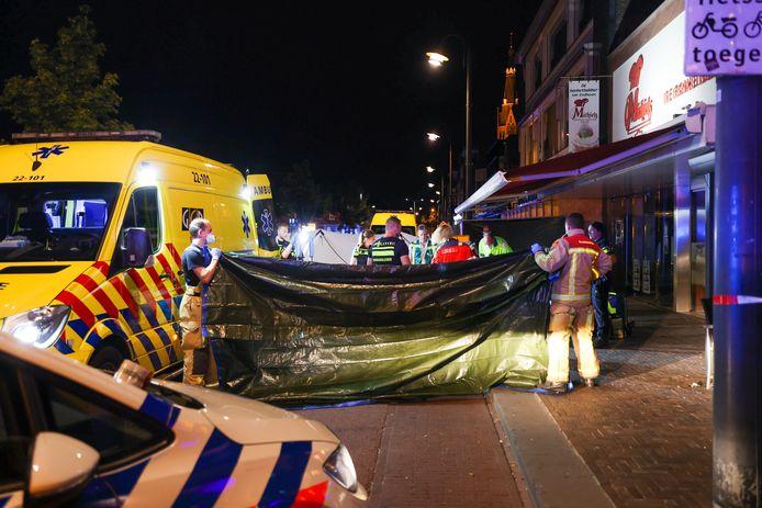 Dodelijk steekincident aan de Woenselse Markt in Eindhoven.
