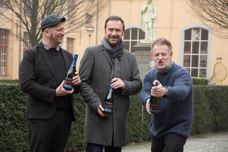 Joost Goethals, Pablo Annys en Jo Decoster willen graag de kurken laten knallen.