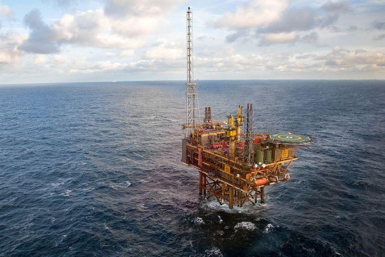 Een gasplatform in de Noordzee van BG Group Plc, onderdeel van Shell. Beeld Getty