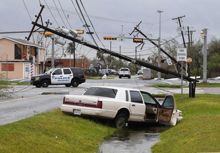 De ravage na de tropische storm Harvey is enorm. Beeld getty