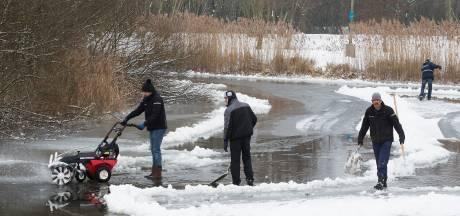 Helaas, er kan toch niet geschaatst worden in het Horsterpark