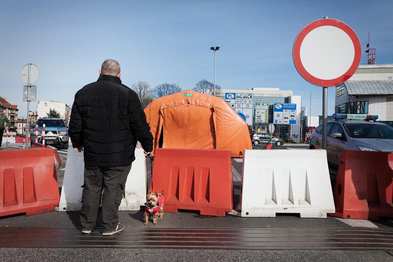 Afsluiting bij de Pools-Duitse grens.
