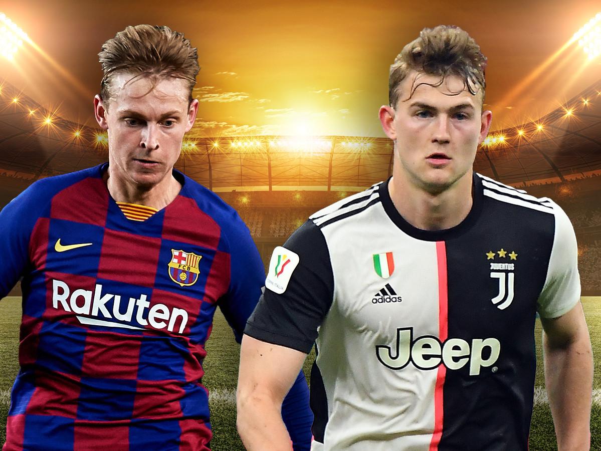 Frenkie de Jong (FC Barcelona) en Matthijs de Ligt (Juventus) voetballen straks het hele jaar door.