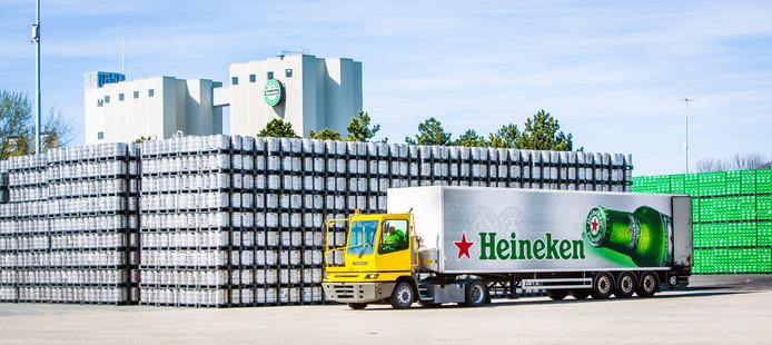 De brouwerij van Heineken in Zoeterwoude.