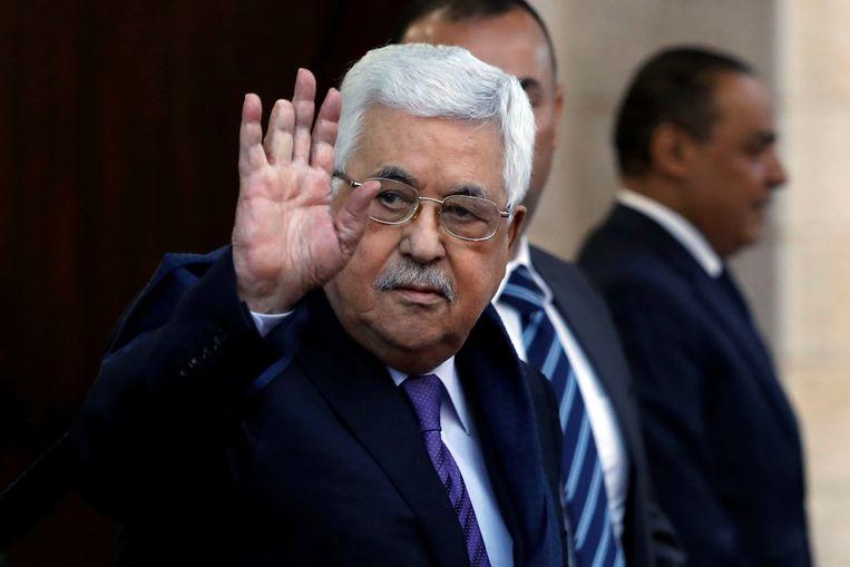 De Palestijnse president Mahmoud Abbas Beeld Reuters