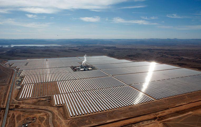 Een zonnepark in Ouarzazate, Marokko. Beeld AP