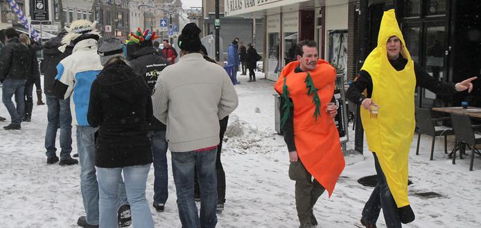 De gemeente vreest dat er op 10 februari twee kroegentochten ontstaan. De officiële en die van de 'boycotters'.