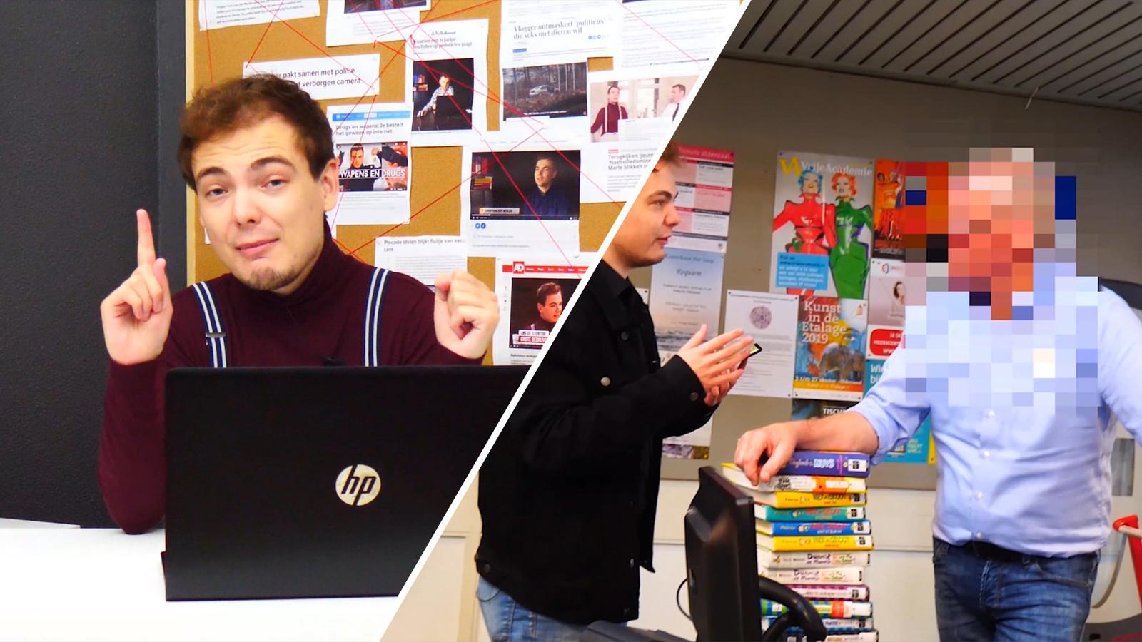 Sven van der Meulen dringt computers binnen.