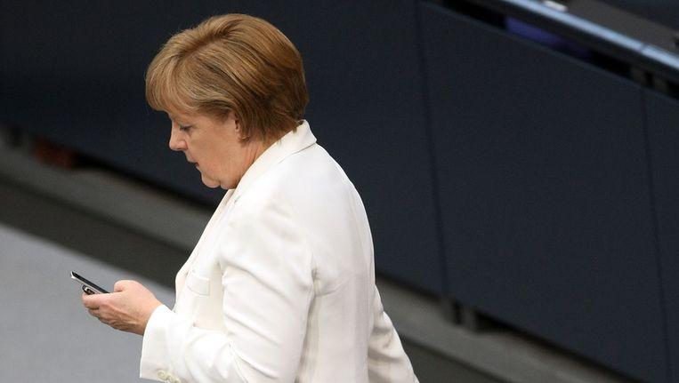 Volgens bronnen zou de mobiele telefoon van Angela Merkel zijn afgeluisterd door de Amerikaanse geheime dienst Beeld ANP