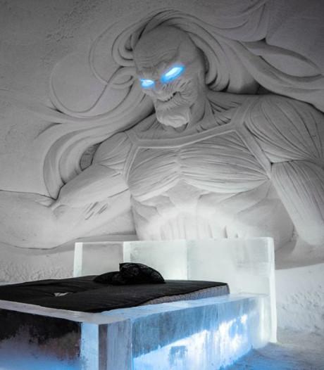 Waan je tussen 'White Walkers' in ijshotel