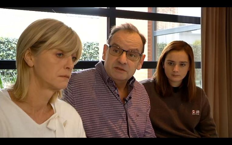 Marcs ouders met Marly De Laet, de vriendin van hun zoon.