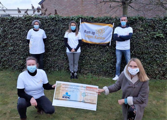 Tamara en haar team zamelden met hun actie zowaar 6.000 euro in voor Kom op tegen Kanker.
