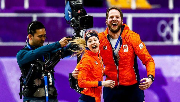 Esmee Visser in de Gangneung Oval tijdens de 5000 meter schaatsen tijdens de Olympische Winterspelen van Pyeongchang. Beeld anp