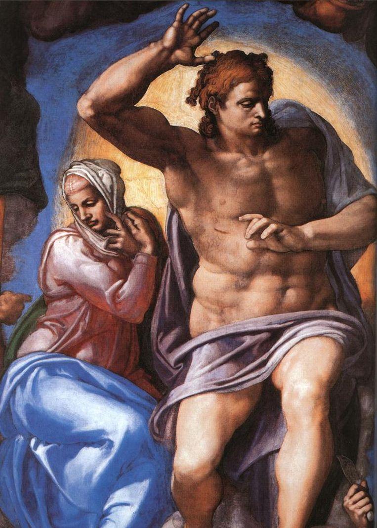 Detail Michelangelo - The Last judgment Beeld RV