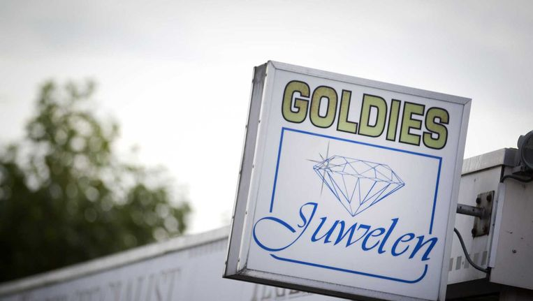 Exterieur van juwelier Goldies in Deurne. Beeld anp